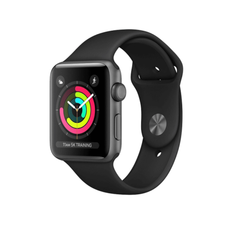 AppleWatch Series3 Space Grey Aluminium Case with Black Sport Band