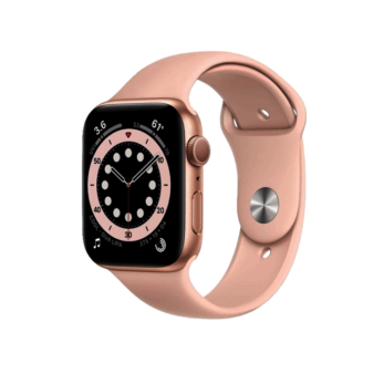 Apple Watch Series 6 Gold Aluminium Case with Pink Sand Sport Band