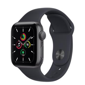 Apple Watch SE  Space Gray Aluminium Case With Midnight Sport Band