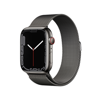 Apple Watch Series 7 Graphite Stainless Steel Case with Graphite Milanese Loop